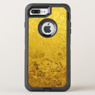 PURE GOLD LEAF Pattern + your text / photo OtterBox Defender iPhone 8 Plus/7 Plus Case