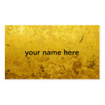 PURE GOLD pattern / gold leaf Pack Of Standard Business Cards