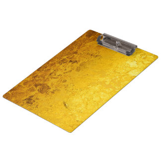 PURE GOLD pattern / gold leaf Clipboard