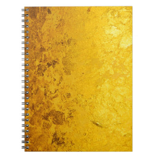 PURE GOLD pattern / gold leaf Spiral Notebook