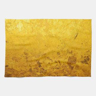 PURE GOLD pattern / gold leaf Tea Towel
