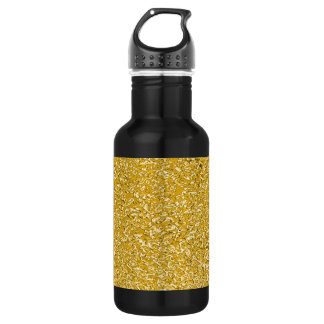PURE GOLD Splatter Pattern + your text / photo 532 Ml Water Bottle