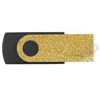 PURE GOLD Splatter Pattern + your text / photo Swivel USB 2.0 Flash Drive