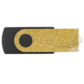 PURE GOLD Splatter Pattern + your text / photo USB Flash Drive