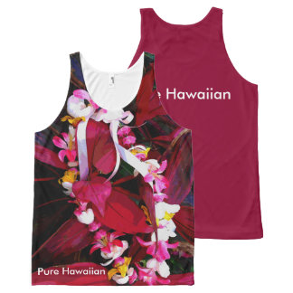 Pure Hawaiian Lei All-Over Print Tank Top