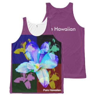 Pure Hawaiian Orchid All-Over Print Tank Top