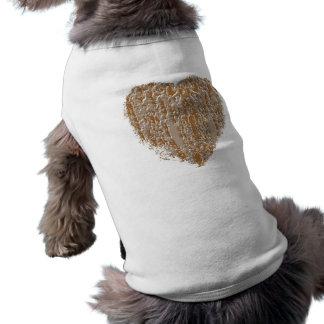 PURE Heart - Gold n Silver Engraved design Sleeveless Dog Shirt