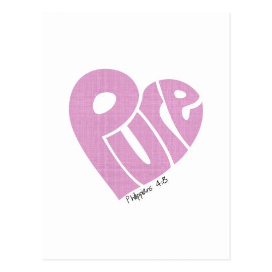 PURE Heart Pink Postcard