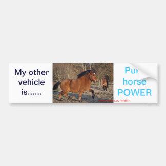 Pure horse power sticker