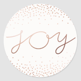 Pure Joy | Beautiful Holiday Classic Round Sticker