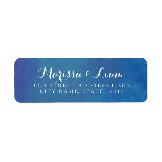 Pure Love Return Address Label / Ocean Blue