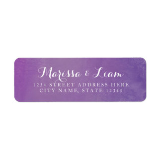 Pure Love Return Address Label / Violet