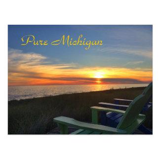 Pure Michigan Sunset Beach Postcard Post Cards