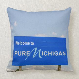 Pure Michigan Welcome Sign Cushion