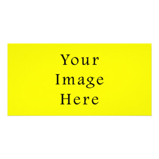 Pure Neon Yellow Color Trend Blank Template Photo Card Template