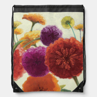 Pure Palette Zinnias Drawstring Bag