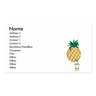 pure pineapple juice pack of standard business cards