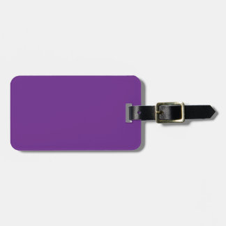 Pure Purple Personalized Trend Color Background Bag Tag