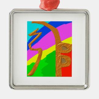 Pure Reiki Master Symbols - SEI HEI KEY Silver-Colored Square Decoration