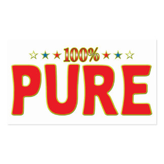 Pure Star Tag Pack Of Standard Business Cards