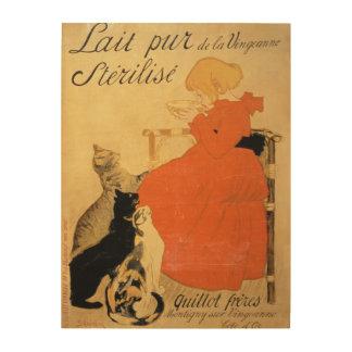 'Pure Sterilized Milk from La Vingeanne', 1894 (co Wood Wall Decor