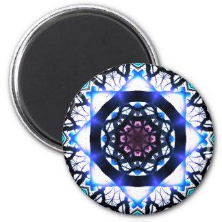 Pure Sunlight Star Mandala 6 Cm Round Magnet