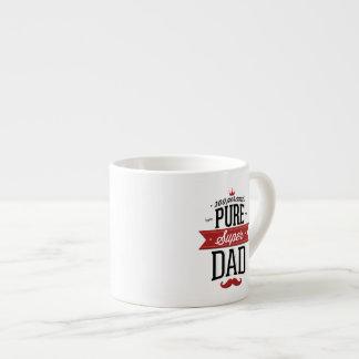 Pure Super Dad Moustache Red and Black Espresso Mug