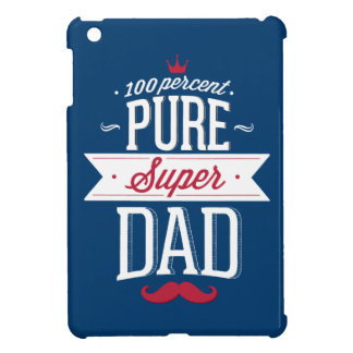 Pure Super Dad Moustache Red and White Cover For The iPad Mini
