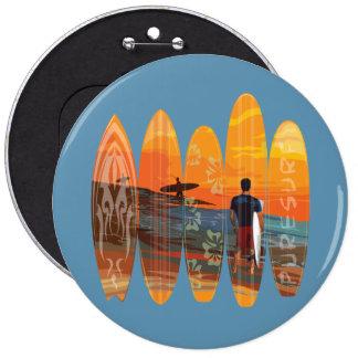Pure Surfing 6 Cm Round Badge