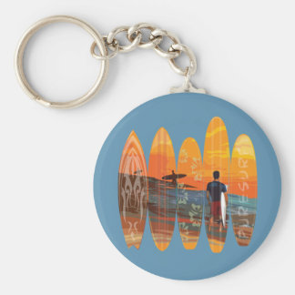 Pure Surfing Basic Round Button Key Ring