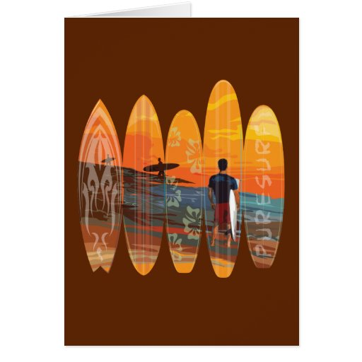 Pure Surfing Greeting Card