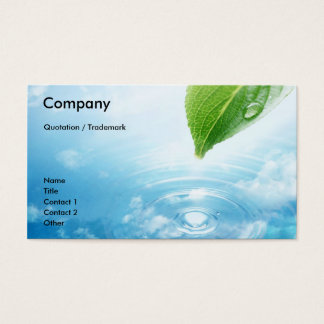 Pure Water business card template