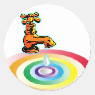 Pure Water Round Sticker