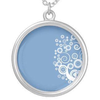 pure white floral tree wedding gift round pendant necklace