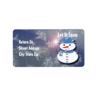 Pure White Snowman Label