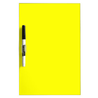 Pure Yellow - Neon Lemon Bright Template Blank Dry Erase Board