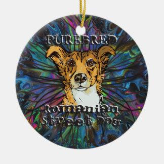 Purebred Romanian Street Dog Christmas Ornament