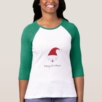 Purfect Holiday Raglan Tee with Meowy Christmas