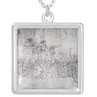 Purgatory, from 'The Divine Comedy' by Dante Silver Plated Necklace