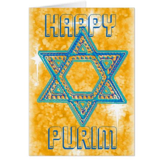 Purim celebration card