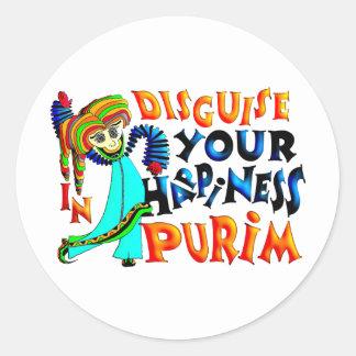 Purim Classic Round Sticker