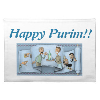 purim megillah placemats