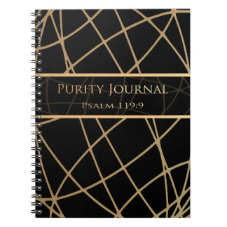 PURITY JOURNAL  (Black/Gold Abstract)