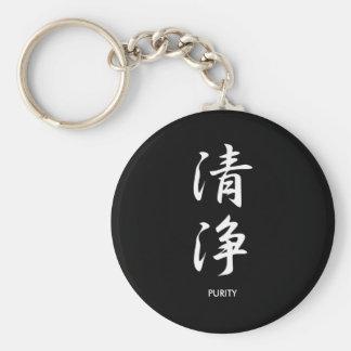 Purity - Seijou Basic Round Button Key Ring