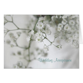 Purity Wedding Acceptance Note Card
