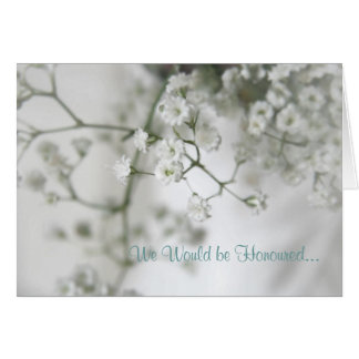 Purity Wedding Invitation Note Card