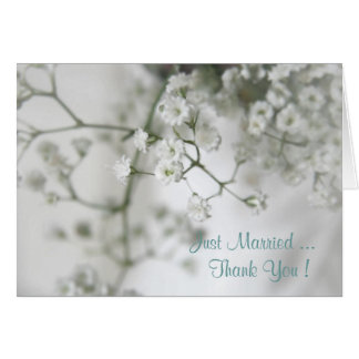 Purity Wedding Thank You Card