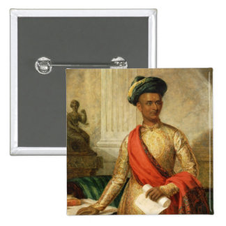 Purniya, Chief Minister of Mysore, c.1801 (oil on 15 Cm Square Badge