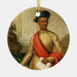 Purniya, Chief Minister of Mysore, c.1801 (oil on Christmas Ornament