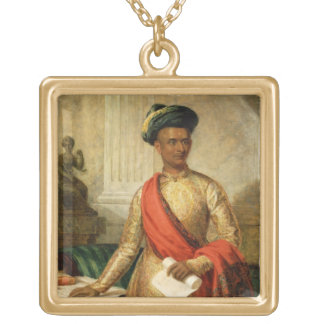 Purniya, Chief Minister of Mysore, c.1801 (oil on Gold Plated Necklace
